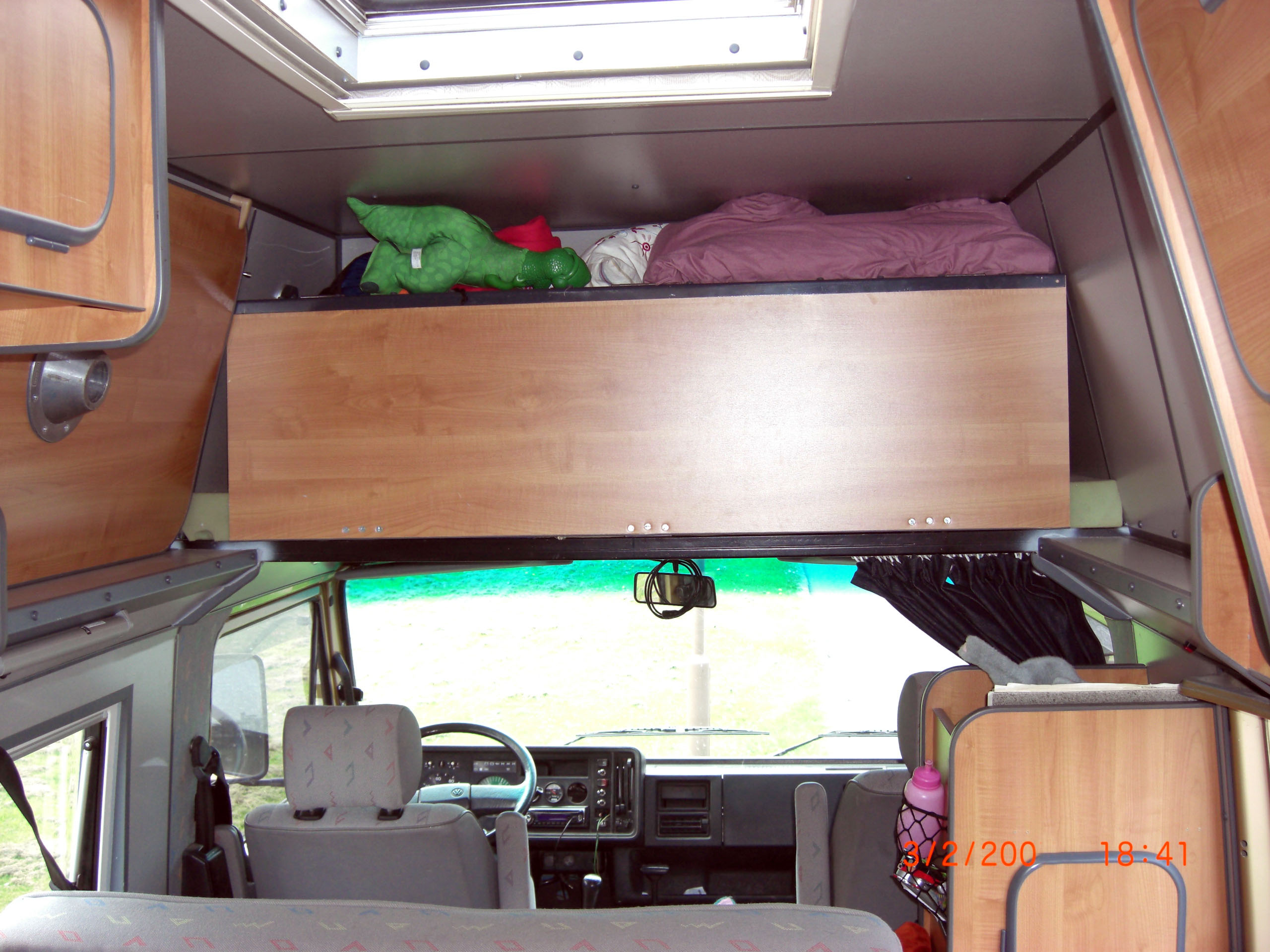The Upper Bed Bunk Folds Down For A Massive Double Bed