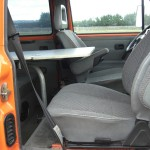 Swivel seats and front table