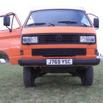 Square headlights, headlight washers, Syncro mirrors