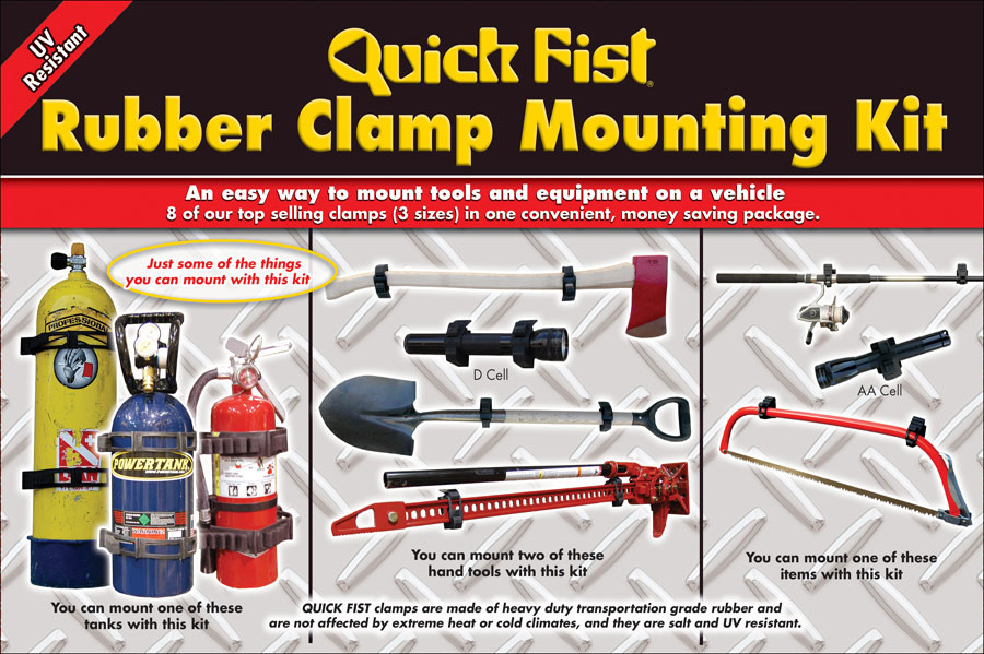 4X4 Vans For Sale >> Quick Fist Clamp Mounting Kit 8 pieces | CampervanCulture.com