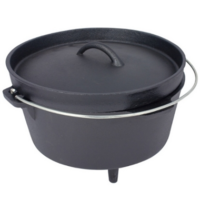 Dutch oven - cast iron cooking pot