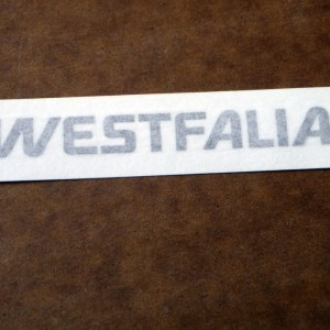 VW T25 T3 Vanagon - Westfalia stove panel decals