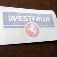 Weatfalia logo decal for VW T3 T25 Vanagon Westfalia luggage rack