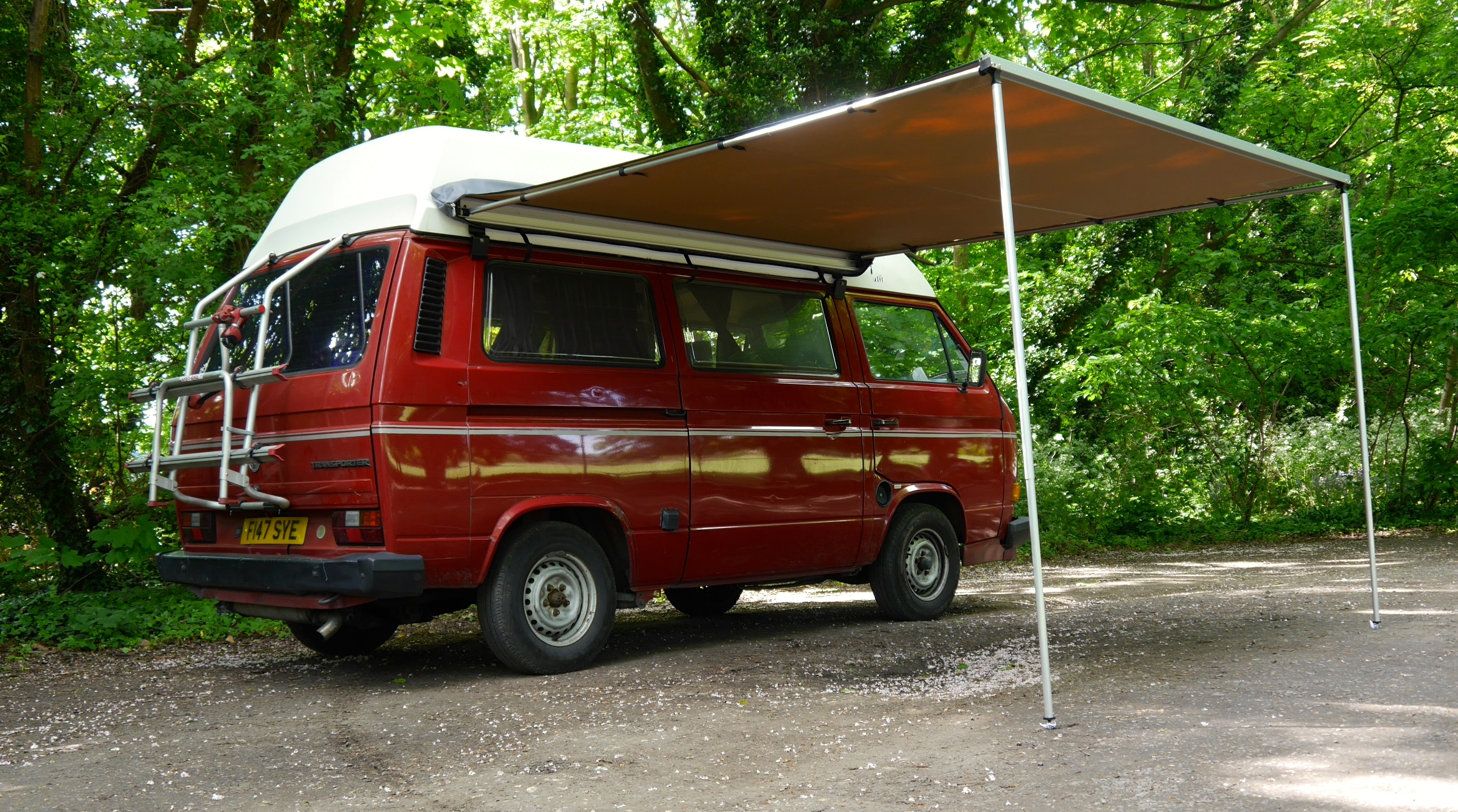 vw t25 t3 vanagon arb 2500mm x 2500mm awning with cvc. Black Bedroom Furniture Sets. Home Design Ideas