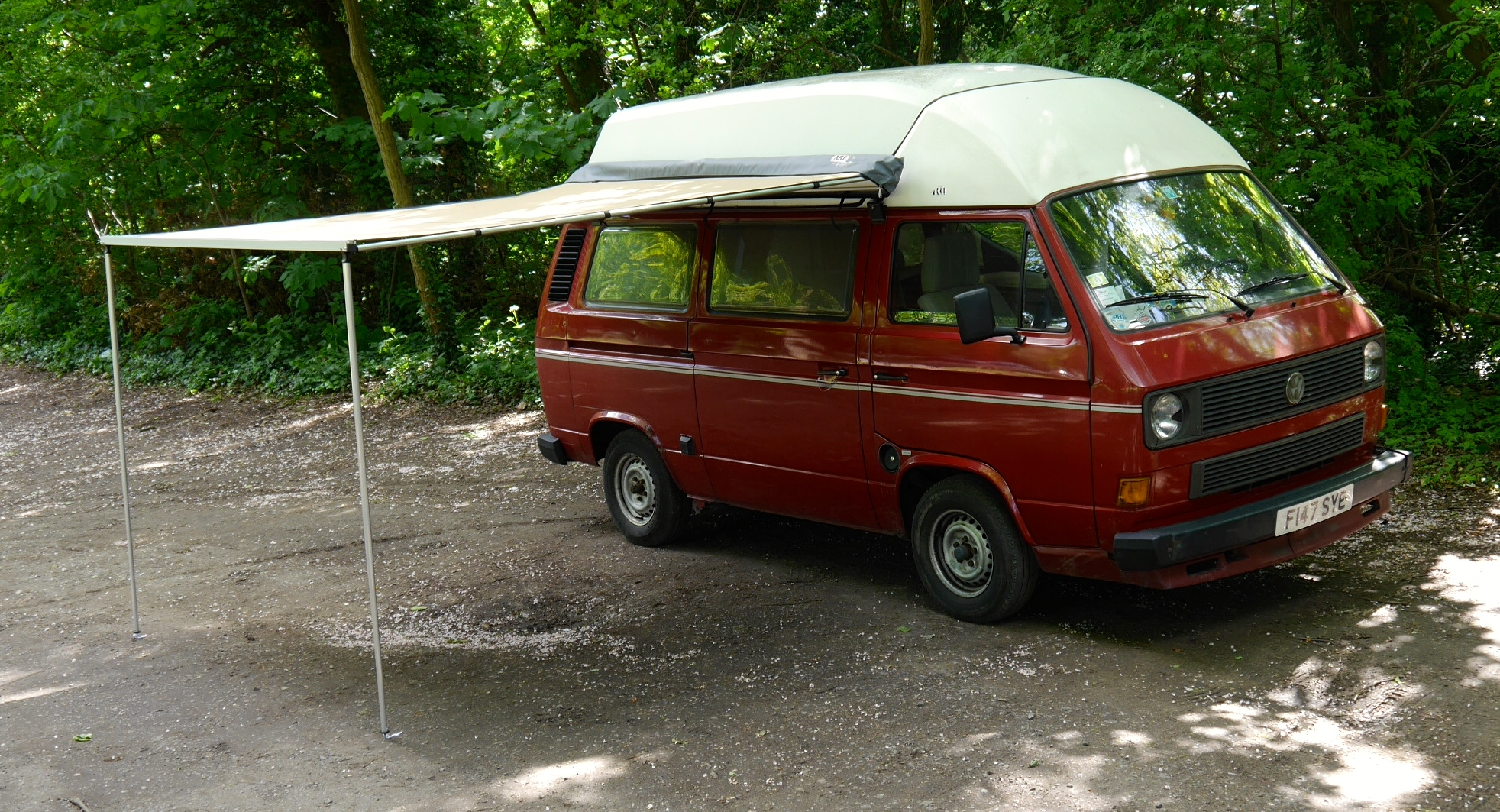 vw t25 t3 vanagon arb 2500mm x 2500mm awning with cvc fitting kit. Black Bedroom Furniture Sets. Home Design Ideas