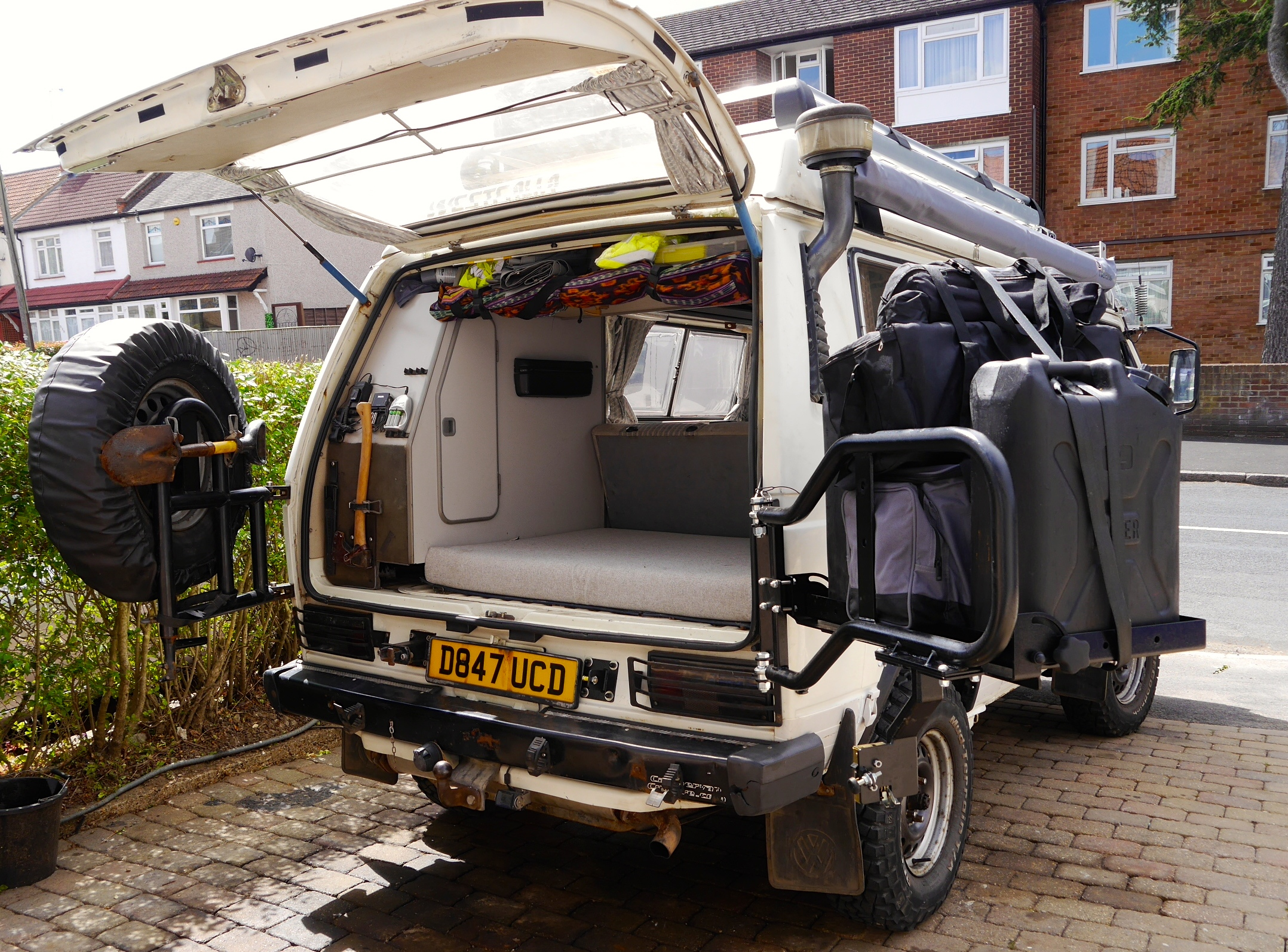 Vw Camper Van >> Rocky Mountain Westy Swing Away Rear Carry Tray | CampervanCulture.com