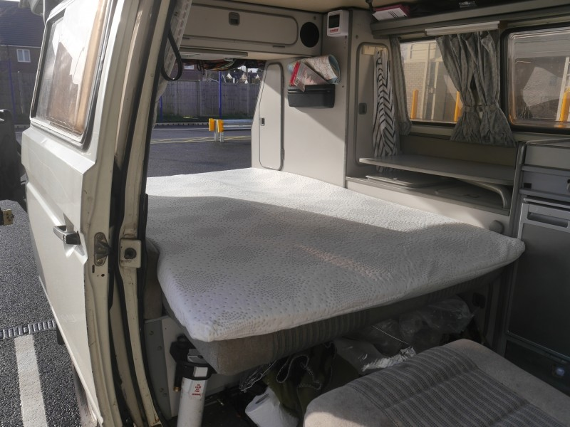 Vw t25 t3 vanagon 3 4 width bed memory foam bed topper for 3 4 beds for sale