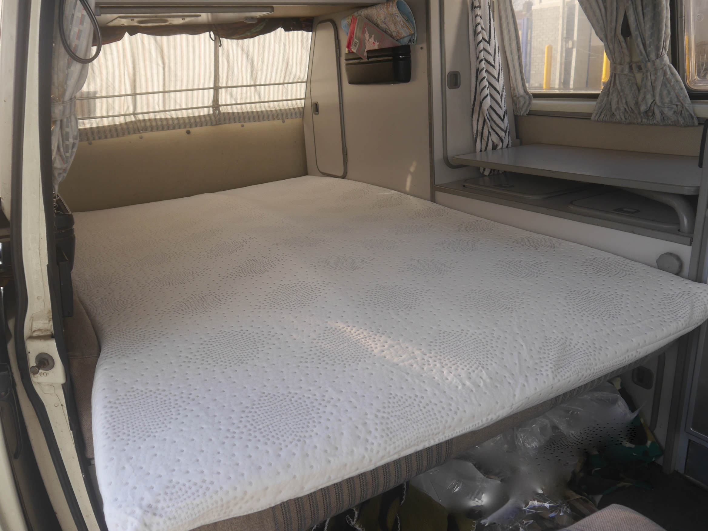 Vw T25 T3 Amp Vanagon 3 4 Width Bed Memory Foam Bed Topper