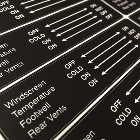 VW T25 Heater control sticker