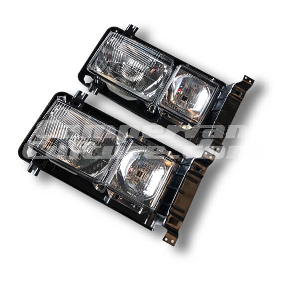 VW T25 T3 Vanagon H4 Square Headlights