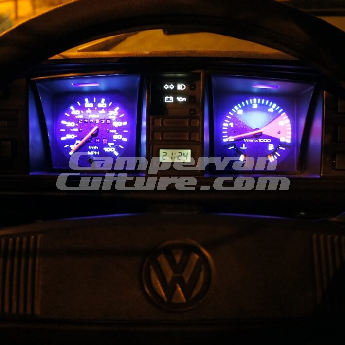 VW T25 T3 Vanagon Backlit Gauge / Instrument Upgrade Kit – MPH + Rev  Counter 6krpm